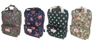 Notting Hill - Printed Canvas Laptop Backpack Range